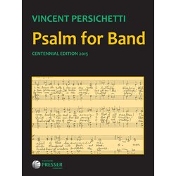 Psalm for Band Opus.53 - Score, Grade 5