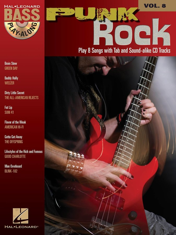 View larger image of Punk Rock - Bass Play-Along Volume 8 w/CD