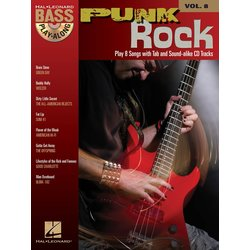 Punk Rock - Bass Play-Along Volume 8 w/CD