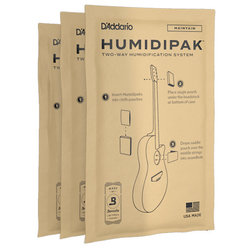 D'Addario Humidipak System Replacement Packets - 3 Pack