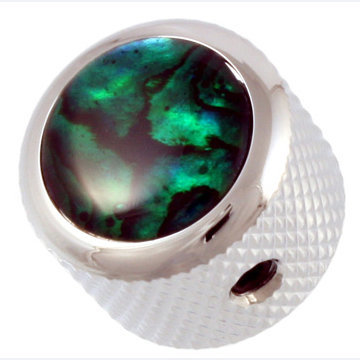 View larger image of Q-Parts Abalone Knob - Chrome Green