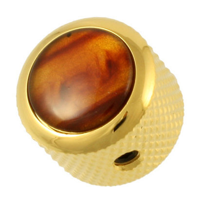 View larger image of Q-Parts Gold Dome Knob - Tortoise