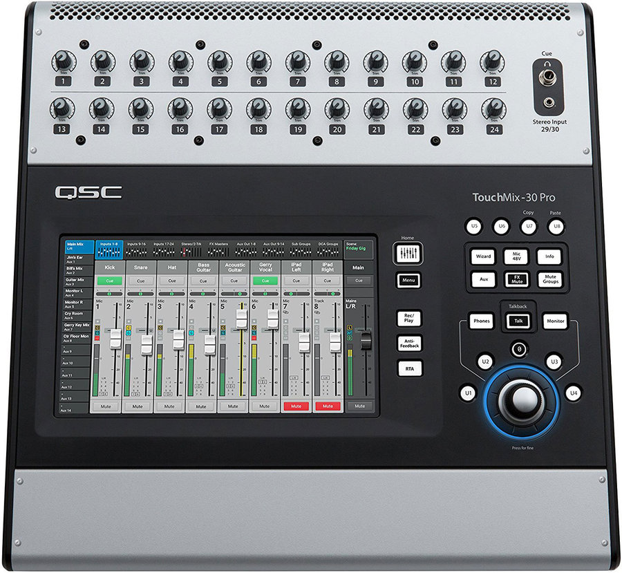 View larger image of QSC TouchMix-30 Pro 32-Channel Professional Digital Mixer