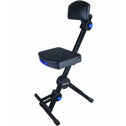 Quiklok DX-749 Musicians Stool with Adjustable Footrest - Black