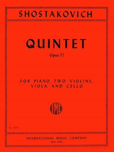 View larger image of Quintet in G minor, (Shostakovich) Op. 57 - String Quintet