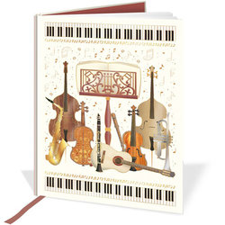 Quire Musical Band Instruments A5 Notebook