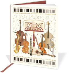 Quire Musical Band Instruments A6 Notebook