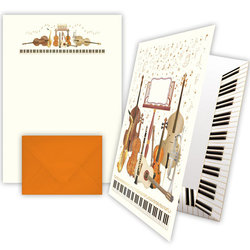 Quire Musical Band Instruments Writing Paper