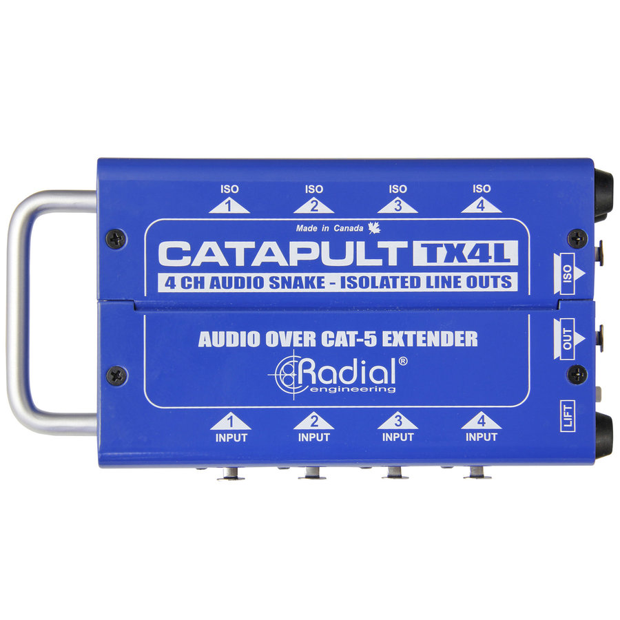 View larger image of Radial Catapult TX4L Cat 5 Analog Snake