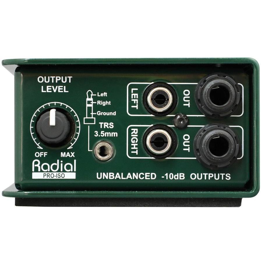 View larger image of Radial Pro-Iso Stereo +4dB to -10dB Converter