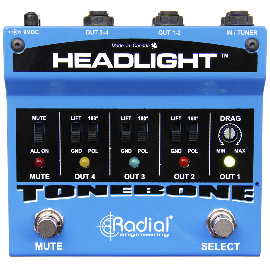 View larger image of Radial Tonebone Headlight Guitar Amp Selector