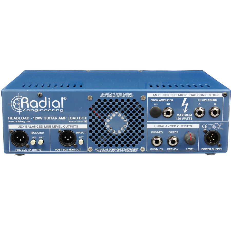 View larger image of Radial Tonebone Headload Guitar Amp Load Box and DI - 16-Ohm
