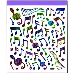 Rainbow Music Note Stickers