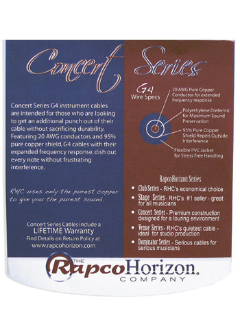 View larger image of Rapco G4 Guitar/Instrument Cable - Black, 1/4 Switchcraft, 10'