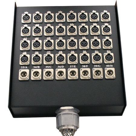 View larger image of Rapco SPL Series Snake - 20 channel, 16x4, XLR Returns, 25'