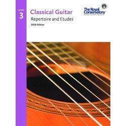 RCM Classical Guitar Repertoire and Etudes - Level 3 (2018 Edition)