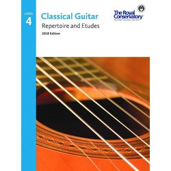 RCM Classical Guitar Repertoire and Etudes - Level 4 (2018 Edition)