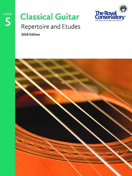 View larger image of RCM Classical Guitar Repertoire and Etudes - Level 5 (2018 Edition)