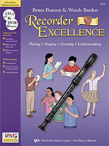 View larger image of Recorder Excellence - Student Book, with CD/DVD/iPAS