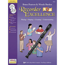 Recorder Excellence - Student Book, with CD/DVD/iPAS