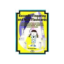 Recorder Fingering & Note Flashcards