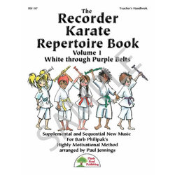 Recorder Karate Repertoire Book Vol.1 - Teacher Book & CD
