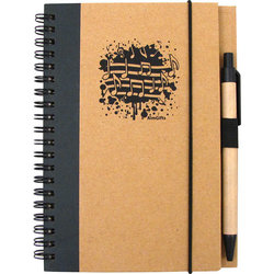 Recycled Music Notes Notebook with Pen