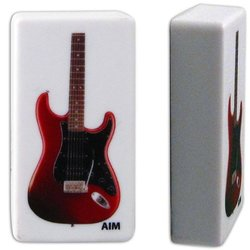 Red Electric Guitar Power Magnet
