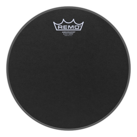 View larger image of Remo Ambassador Black Suede Drumhead - 12