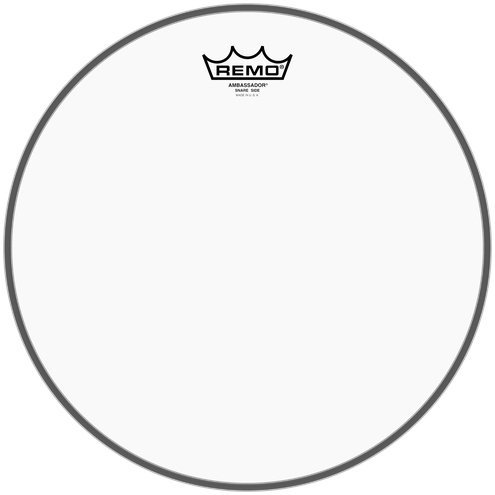 View larger image of Remo Ambassador Clear Snare Side No Collar Drumhead - 13