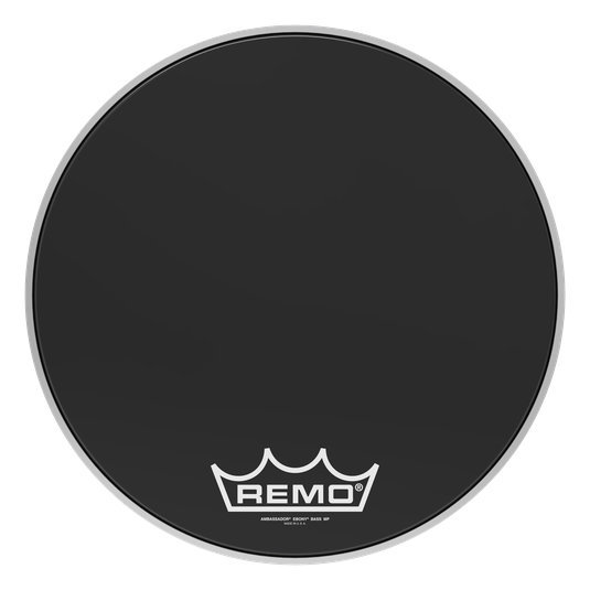 View larger image of Remo Ambassador Ebony Crimplock Bass Drumhead - 18
