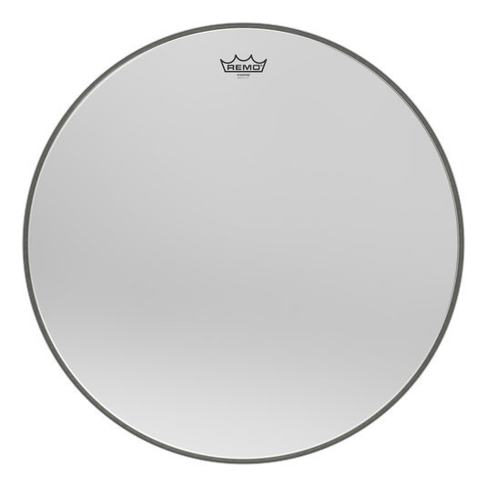 View larger image of Remo Ambassador Starfire Bass Drumhead - Chrome, 24