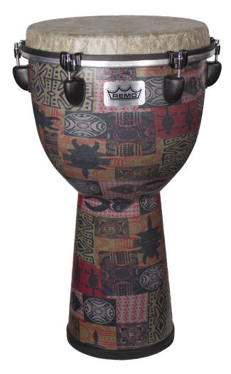View larger image of Remo Apex Djembe Drum - Red Kinte, 12