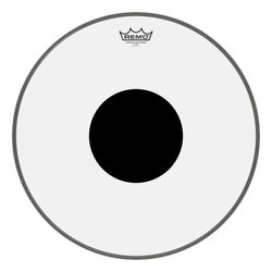 Remo Controlled Sound Clear Black Dot Bass Drumhead - Top Black Dot, 18