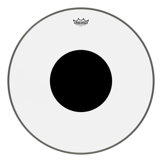 View larger image of Remo Controlled Sound Clear Black Dot Bass Drumhead - Top Black Dot, 24