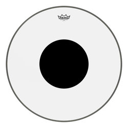Remo Controlled Sound Clear Black Dot Bass Drumhead - Top Black Dot, 24