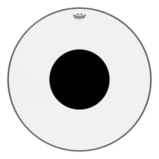 View larger image of Remo Controlled Sound Clear Black Dot Bass Drumhead - Top Black Dot, 28