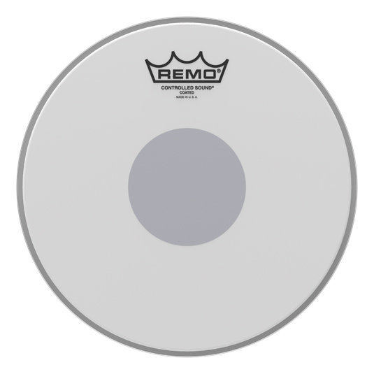View larger image of Remo Controlled Sound Coated Black Dot Drumhead - Bottom Black Dot, 10