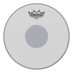 Remo Controlled Sound Coated Black Dot Drumhead - Bottom Black Dot, 10