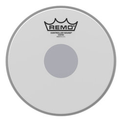 Remo Controlled Sound Coated Black Dot Drumhead - Bottom Black Dot, 14