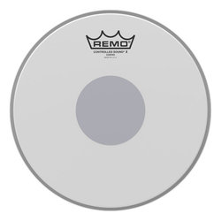 Remo Controlled Sound X Coated Black Dot Snare Drumhead - Bottom Black Dot, 10