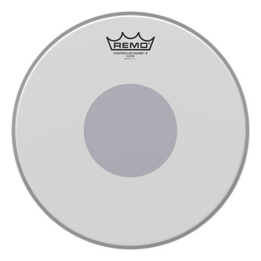 View larger image of Remo Controlled Sound X Coated Black Dot Snare Drumhead - Bottom Black Dot, 13