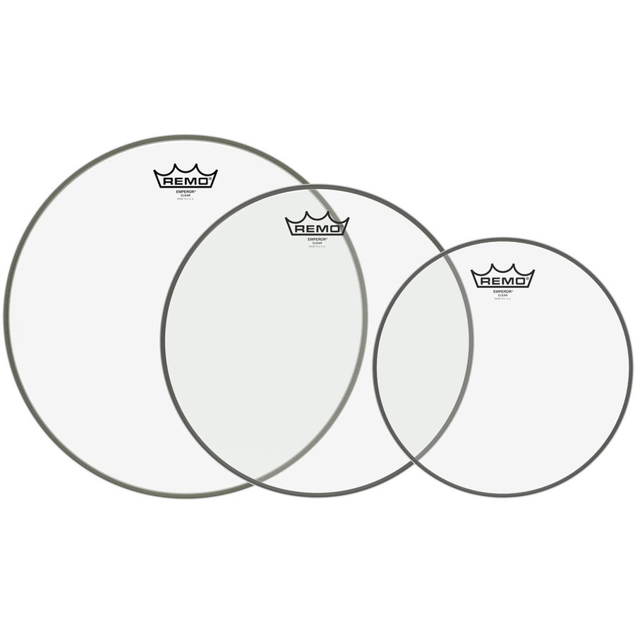View larger image of Remo Emperor Tom Drumhead Pack - 10,12,14, Clear