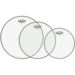 Remo Emperor Tom Drumhead Pack - 10,12,14, Clear
