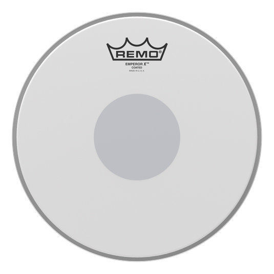 View larger image of Remo Emperor X Coated Snare Drumhead - Bottom Black Dot, 12