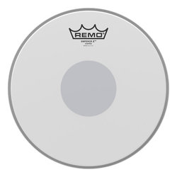 Remo Emperor X Coated Snare Drumhead - Bottom Black Dot, 12