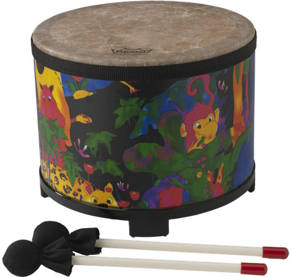 """View larger image of Remo Kids Percussion Floor Tom Drum - 10""""x7-1/2"""", Rain Forest"""