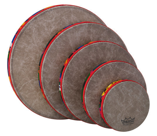 View larger image of Remo Kids Percussion Frame Drum - Fabric Rain Forest, Pack