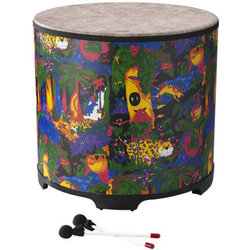"""Remo Kids Percussion Gathering Drum - 21""""x22"""", Rain Forest"""