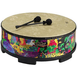 Remo Kids Percussion Gathering Drum - Fabric Rain Forest, 8x16